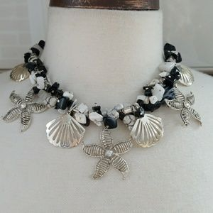 Jewelry - She sells seashells natural stone necklace